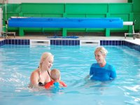 Swimming lessons for babies and todlers at Brean Splash Waterpark