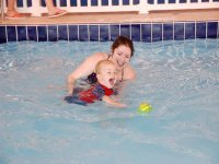 Swimming lessons for babies and todlers at Brean Splash Waterpar