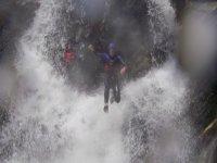 Jumping through waterfalls