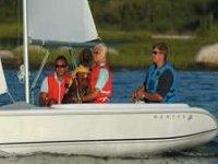 Enjoying a group sail