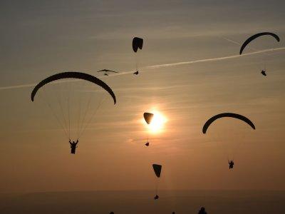 First paraglide in guadalajara