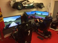 The simulators in The Race Cave!