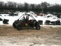 Buggy racing in the snow