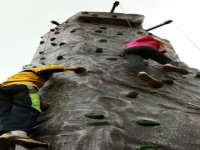 Have a go on the climbing wall.