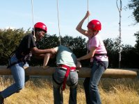 The start of the high ropes.