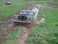 Driving through mug in a 4x4