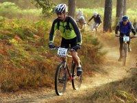 Biking on the forest