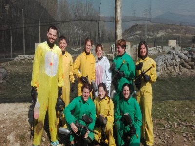Canyoning and paintball in Jaca