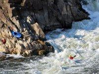 Kayaking on white waters