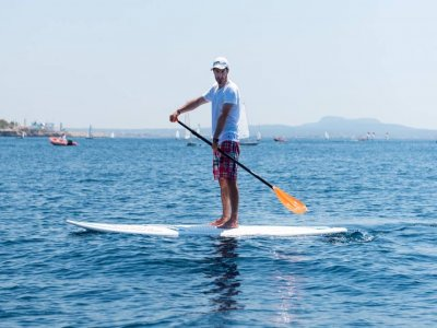 Paddle surfing trip 2h across Cala Major