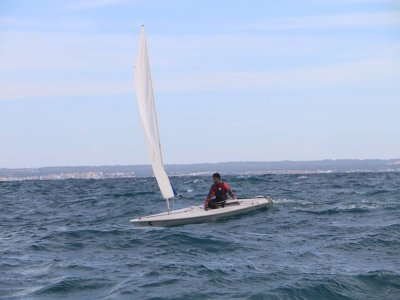 Laser sailing boat rental in Mallorca 6 hours