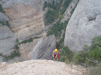 Via ferrata for experts: La Teresina, Catalonia