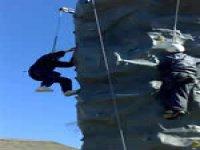 Tricky climbing