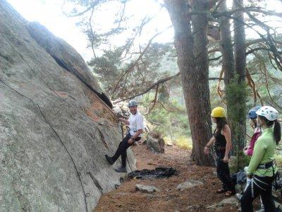 Climbing baptism in Sierra de Guadarrama