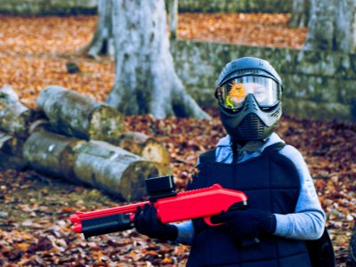 Paintball for children and adventure park