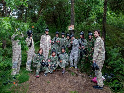 Paintball game with 400 paintballs in Mazaricos
