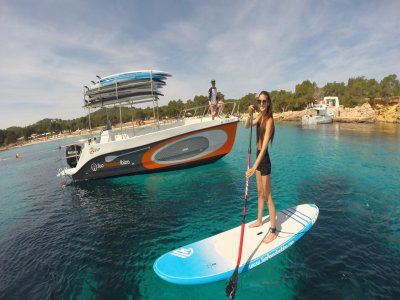 3 hour boat trip + paddle surf in Ibiza