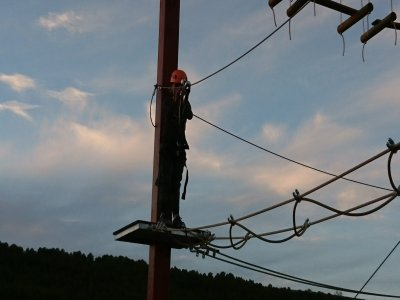 Zip-lines park at Campo Real for kids