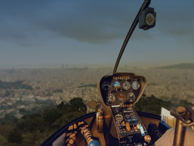 Helicopter Flight Cliff of Barcelona 30min