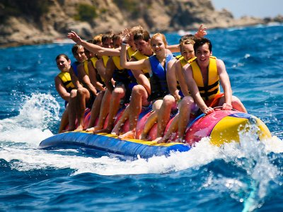15-Minute Banana Boat Trip in Oliva