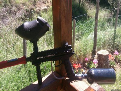 Paintball for schools in Luesia +  burgers
