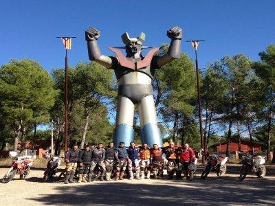 Mazinger Z trip with your enduro over El Penedés