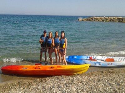 Double kayak rent in l'Ametlla de Mar for 2 hours