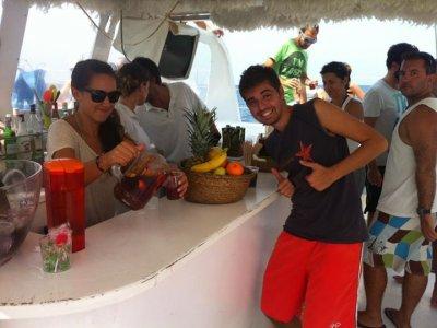 Party boat in Sant Antoni de Portmany, 3h