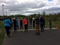 Roller Skiing with