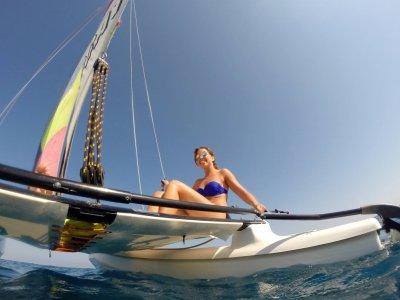 Sail in a catamaran in Roquetas 2hrs