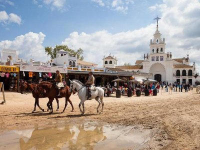 Horse-riding route in El Rocío, 1h
