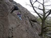 The abseiling course
