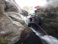Wet abseiling