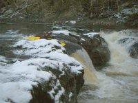 Snowying kayaking