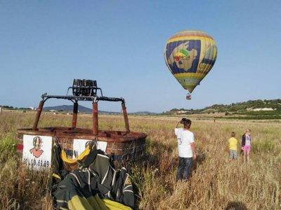 4h hot-air balloon rise in Majorca Children