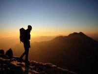 Sunset hiking