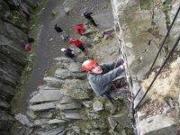 Novice rock climbing
