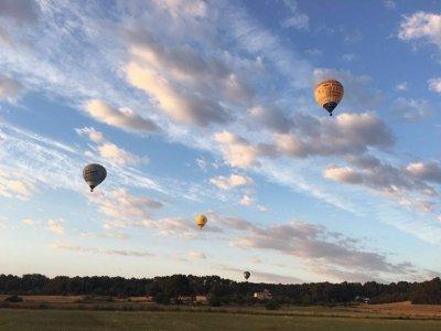 Adventure hot-air balloon ride sunset, Majorca
