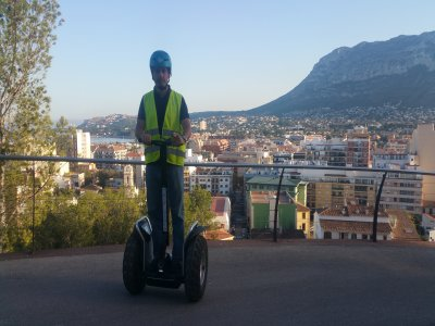 1h segway trip at night to Denia's castle