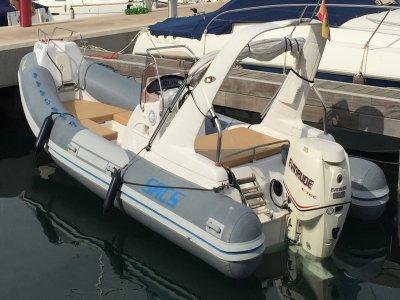 Sacs S680 speedboat rental for 4h in Santa Pola
