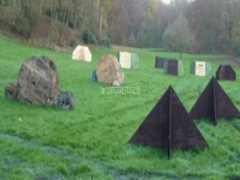Triangle  barricades on our battlefield