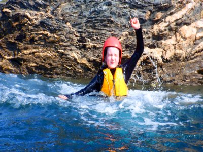 Gara Rock Coasteering in South Devon for 3 hours