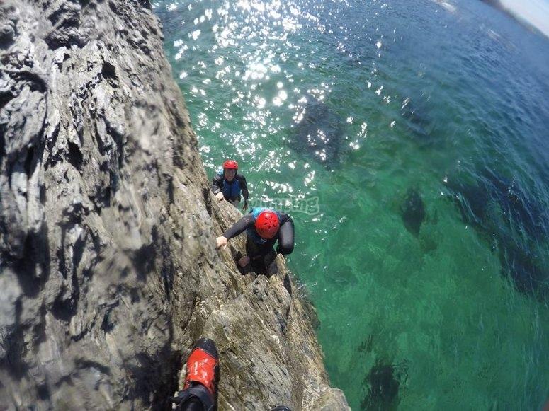 coasteering at gara rock