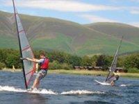 Windsurfing in scenic Cumbria