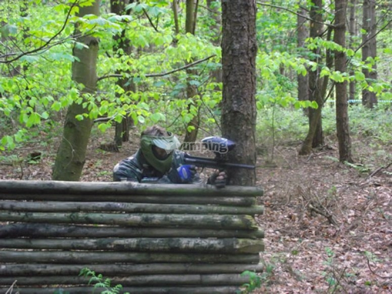 Holding the base at Paintball Norwich