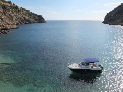 Boat stag party in Ibiza, high season