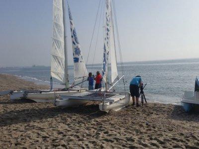 Rent a catamaran w/o boatmaster Mojácar for 30min