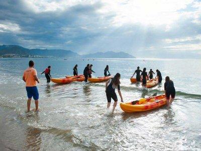 Kayak route Cala del Mojón y Cala Negra, 2h