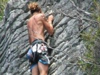 Climbing can also be done.