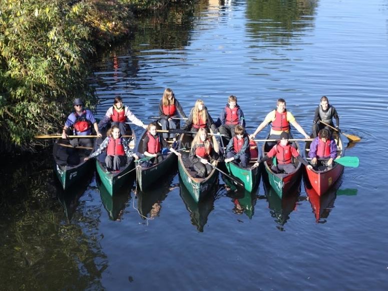 Canoeing school activity
